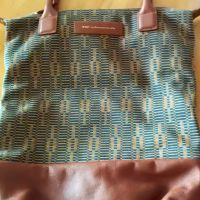OrlyFrise Blue/Cognac1Roll Tote150.