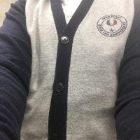 Polka Dot Trim Pocket Long Sleeve Shirt
