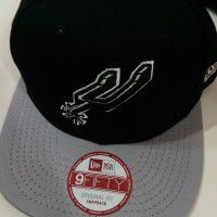 San Antonio Spurs New Era Black Hat