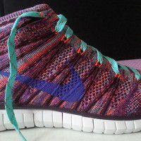 NIKE WMNS FREE FLYKNIT CHUKKA(HYPR CRMSN/HYPR running shoes x1