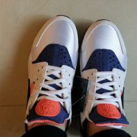 NIKE WMNS AIR HUARACHE white/navy/orange